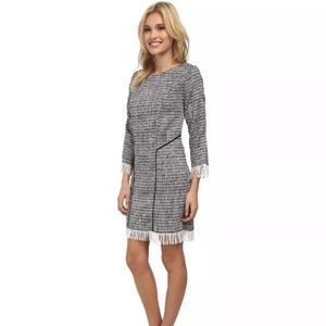 Sam Edelman tweed sheath fringe dress